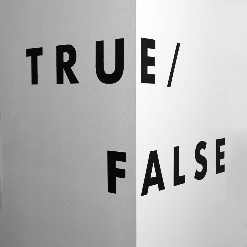 True False BW